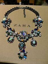 Zara Ethno mega statement Kette necklace boho top Blogger Perlen Strass xxl neu