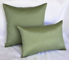 Solid Faux Silk Euro Sham / Throw Pillow Cover, Multi Size / Color