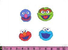 SesameStreet Oscar Grouch Grover Cookie Elmo Iron Ons