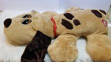 "35"" Pound Puppy Brown Squeaky Dog Toy Plush"