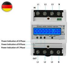 Hutschiene Unterstromzähler Drehstromzähler 3x5(80)A digital 3-Phasen 4-Draht DE