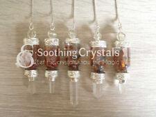 Orgone Chakra Chips Bottle Pendulum Dowsing Pendulum Divination Tool Crystal.