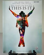Michael Jackson - THIS IS IT - Easy Piano Book - Thriller Beat It Billie Jean...