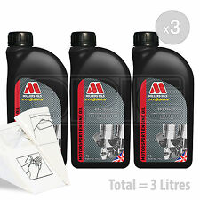 Car Engine Oil Service Kit / Pack 3 LITRES Millers CFS 10w-40 full synth 3L