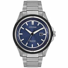Citizen Eco-Drive Men's AW1450-89L Super Titanium Duratect Blue Dial Sport Watch