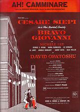 "Cesare Siepi ""BRAVO GIOVANNI"" Michele Lee / Maria Karnilova '62 FLOP Sheet Music"