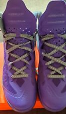 Pre-owned purple/gray mens 9.5 Zoom Hyperenforcer PE (487655-500)great condition
