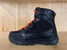 VASQUE CONTENDER BLACK RED HIKING BOOTS BOOT KIDS YOUTH SIZE 2.5 Y  V-567