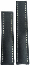 22x20  RIOS1931 for Panatime Rough Grey Lthr Watch Strap For Breitling Deploy