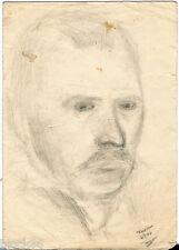 "1937 MAN""S PORTRAIT signed by Russian artist"
