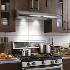 Range Hood Under Cabinet Fan Cfm Kitchen Ductless Light Stainless Steel 36 Inch