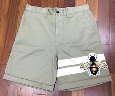 Gucci Bee Patch Flared Men's Bermuda Shorts Size 34 *Made in Italy*