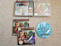 Criticom Critical Combat Game PS1 Sony Playstation 1 Complete Black Label VGC