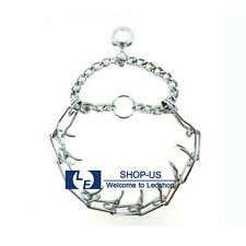 New Adjustable Metal Dog Training Guardian Prong Spike Collar Pinch Choke Chain