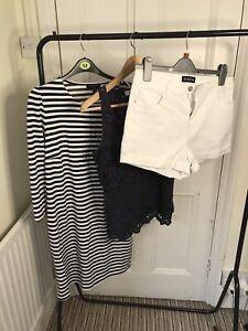 Ladies Size 12 Summer Bundle Dress Tops Shorts