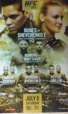 UFC 213 Poster - New - 18x24 Nunes vs Shevchenko 2  Romero vs Whittaker  7/8/17