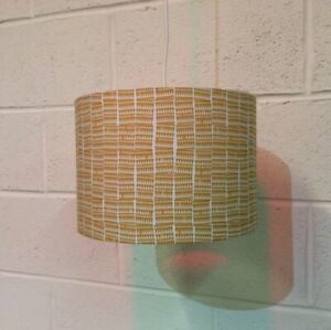 Beautifully Handmade Drum Lampshade In Carolyn Friedlander 'Doe' Fabric