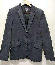 H&M  Herren Jacket Jacke Blazer Sakko Grau Feincord Gr. 46 170/92