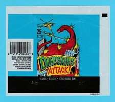BUBBLE  GUM  WRAPPER  -  TOPPS  U.S.A. -  DINOSAURS  ATTACK   (A)  -  1988