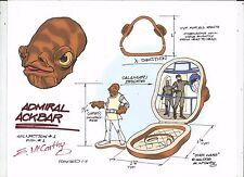 STAR WARS Admiral Ackbar +Bridge Micro Machines Play Set Color Print E. McCarthy