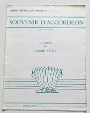 Partition sheet music ANDRE ASTIER : Souvenir d'Accordéon * 80's Valse Musette