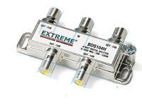 Extreme 4 Way Balanced HD Digital 1GHz High Performance Coax Splitter BDS104H