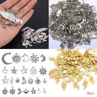 Lots Vintage Silver Bronze Charms Pendant Bracelet Jewelry Making DIY Gift Party