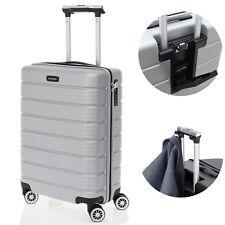 travelite SOHO Handgepäck Hartschalen Trolley Silber USB Port Reisekoffer 4-Rad