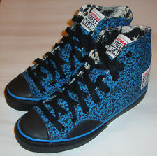 VISION STREET WEAR '80s Skateboard Shoes Blue Stipple Hi Tops 6 UK / 7 USA