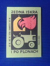 7. Vintage Label with of matches - Etykiety z zapalek