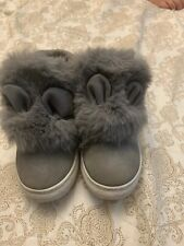 Gorges girls toddler boots grey With Bunny Ears size 25