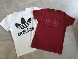 Hugo Boss Adidas T Shirts X 2 9 - 10 Years Short Sleeve