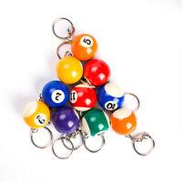 Creative 25 MM Billiard Snooker Table Ball Key Ring Gift Key Chain Color Random