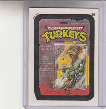 2013 TOPPS 75TH ANNIVERSARY GOLD STAMPED 1991 WACKY PACKAGES #36 OLD AGE TURKEYS