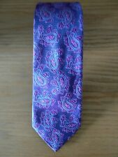 New: William & George London, Purple Paisley Silk Woven  Tie