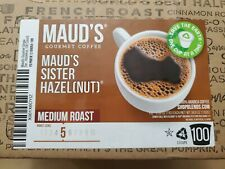New listing Mauds Gourmet Coffee Pods-Sister Hazelnut Medium Roast,100K-cup, exp.03/21