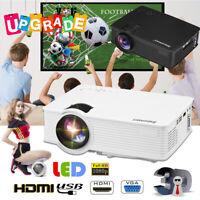 7000 Lumens 3D Portable LED LCD Projector Home Theater Cinema HDMI USB SD AV VGA