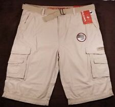 NWT Men's Unionbay Cargo Shorts ~ Cordova Messenger Belted Cargo ~ Sand ~ 40