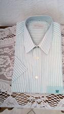 Gestreifte klassische Kurzarm Herrenhemden mit Kentkragen aus Baumwolle