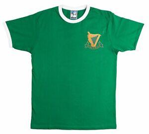 Hibernian 1900s Retro Football T Shirt Embroidered Crest S-XXL