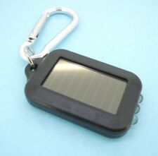 Solar Energy  Keychain  Flashlight  Black Rechargeable LED Emergency Lamp