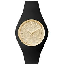 Ice-Watch ICE GLITTER Black Gold Unisex Damen Uhr schwarz ICE.GT.BGD.U.S.15
