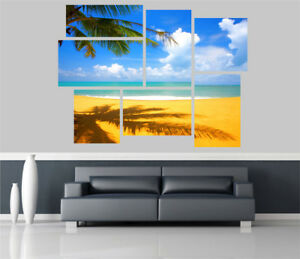 Beautiful Exotic Beach View Removable Self Adhesive Wall Picture Poster EX 1303