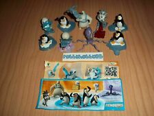 PENGUINS OF MADAGASCAR COMPLETE SET WITH ALL PAPERS KINDER SURPRISE 2015