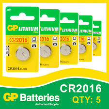 GP Lithium Button Battery CR2016 (DL2016) card of 5 [WATCH & CALCULATOR + OTHER]