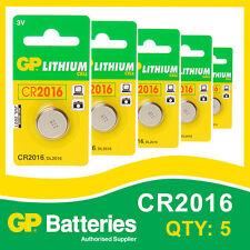 Gp lithium bouton batterie CR2016 (DL2016) carte de 5 [watch & calculatrice + autres]