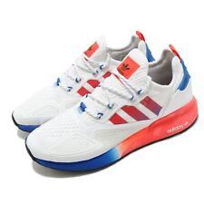 adidas Originals ZX 2K BOOST White Solar Red Blue Men Casual Shoe Sneaker FV9996