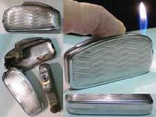 Briquet Ancien Silver Match Paquebot de France RECHARGEABLE Lighter Feuerzeug