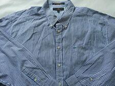 Tommy Hilfiger Men's Button Down Blue and White Striped Dress Shirt XXL
