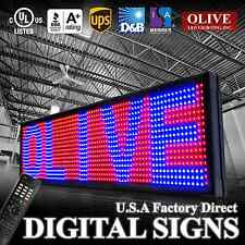 "LED Sign Programmable Scrolling Message Board 15"" x 103"" RBP 3color P20"